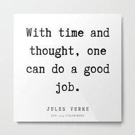 32    | Jules Verne Quotes | 200113 Metal Print