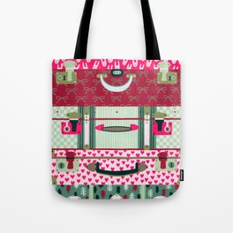 Pink patterned suitcases Tote Bag