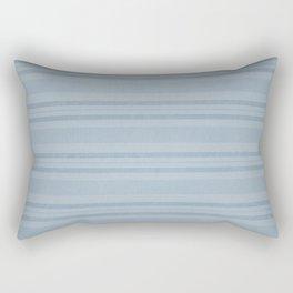 Vintage Stripes in Blue Rectangular Pillow