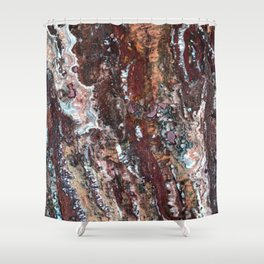 Blood Marble Shower Curtain