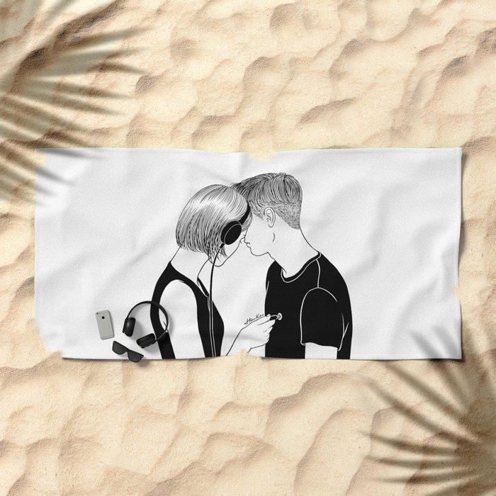 Love Song Beach Towel