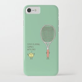 Angry ball iPhone Case