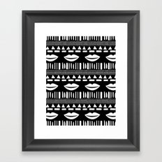TRIBAL White and Black Framed Art Print