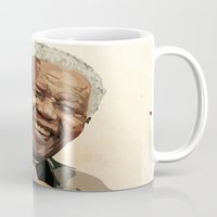 mandela Mugs featuring ICON: Mandela by Diavu'