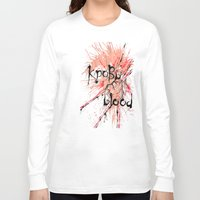 blood Long Sleeve T-shirts featuring Blood by OnaElena
