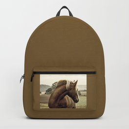 brown horse on the hill Backpack