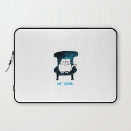 My Chair!  (Blue) Laptop Sleeve