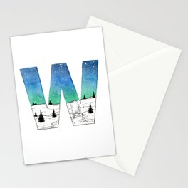 Galaxy Alphabet Series: W Stationery Cards
