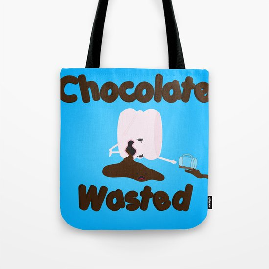 Chocolate Wasted (blue) Tote Bag