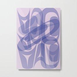 Abstract Formline Purple Metal Print