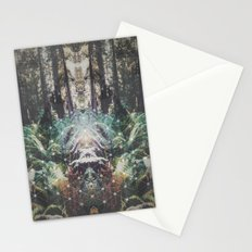 Forest Grid Stationery Cards