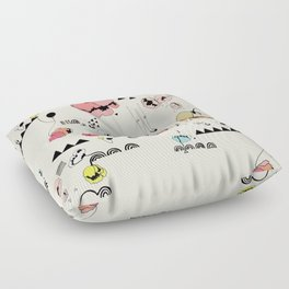 Poppies Print Floor Pillow
