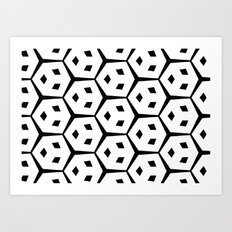 Van Trijp Black & White Pattern Art Print