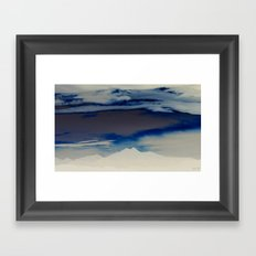 Inverted Peaks II Framed Art Print