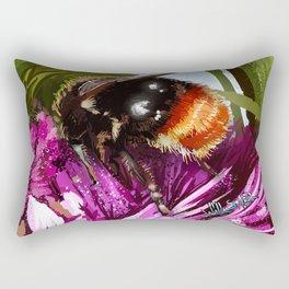 Bee on flower 9 Rectangular Pillow