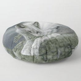 WOLF AND MOON Floor Pillow