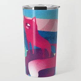 Pink Space Fox The Little Prince Travel Mug
