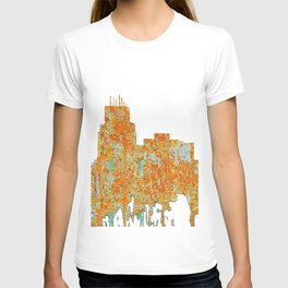 Durham,NC Skyline - Rust T-shirt