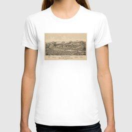 Old Lebanon NH & White River Junction VT Map (1889) T-shirt