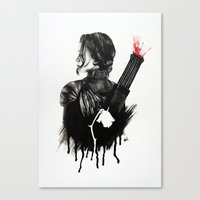 mockingjay Canvas Prints featuring Mockingjay by anazhinka