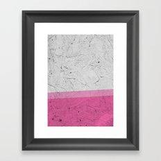 Woodchip Pink Framed Art Print