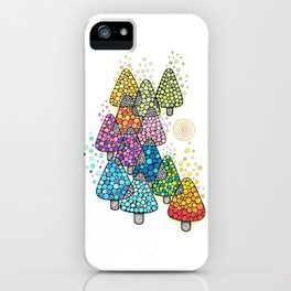 Bosque de pinos magicos iPhone Case