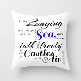 Castles In The Air - Book Quote from Dracula by Bram Stoker Throw Pillow