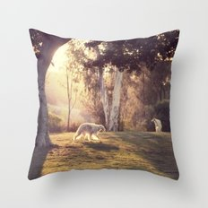 hounds of love Throw Pillow