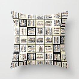 Small line segments Throw Pillow