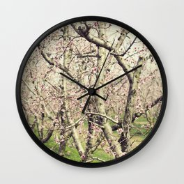 Peach Trees Wall Clock