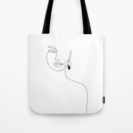 Black Earring Tote Bag