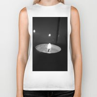 lights Biker Tanks featuring Lights by Efua Boakye