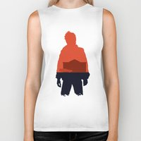 marty mcfly Biker Tanks featuring Marty! by JM Illustration