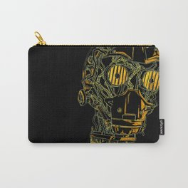 Geometric Black and Gold Robot Carry-All Pouch