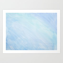 Blue waterclor Art Print