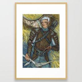 Hawk warrior Framed Art Print