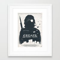 tintin Framed Art Prints featuring John Carpenter's Escape From New York by Alain Bossuyt