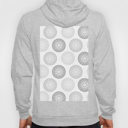 Minimal Mandalas - Black White Grey Pattern Hoody