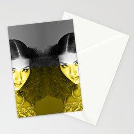 Illuminating Funky Gray LOLITA Stationery Cards