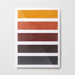 Colorful Brown Geometric Pattern Metal Print