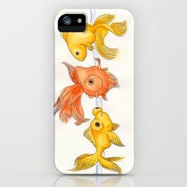 Goldfish Trio iPhone Case