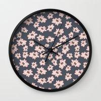 abigail larson Wall Clocks featuring Abigail 3 by Teri Martin