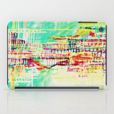 futuristic world in turquoise iPad Case