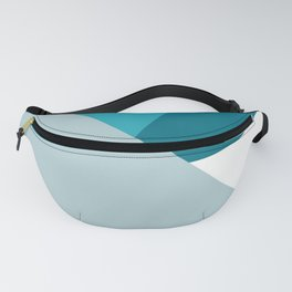Geometric elegant blue shades and triangles graphic design Fanny Pack