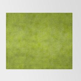 """Summer Fresh Green Garden Burlap Texture"" Throw Blanket"