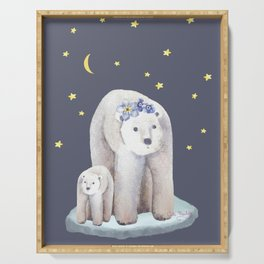 What can be cuter than polar bears? Serving Tray