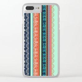 Bohemian Tribal Stripe Clear iPhone Case