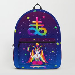 1997 Neon Rainbow Baphomet Backpack