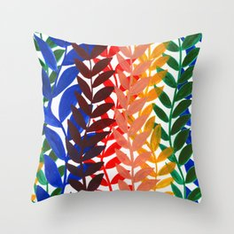 Leaves of Love Throw Pillow
