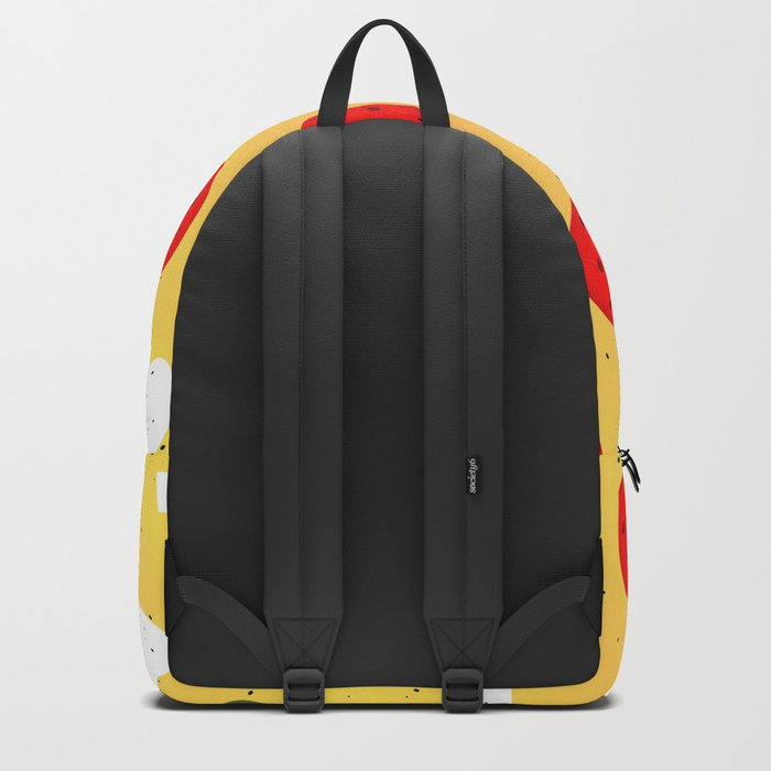 Cool and fun vector pizza Backpack